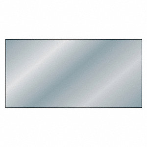 "Mirror Stock, Polycarbonate, 48""L x 24""W x  0.177"" Thick, 240 Max. Temp. (F), Clear"
