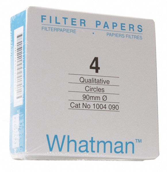 Qualitative Filter Paper,  Cellulose,  Grade CFP4,  15.0 cm Diameter,  20 to 25um Pore Size,  PK 100