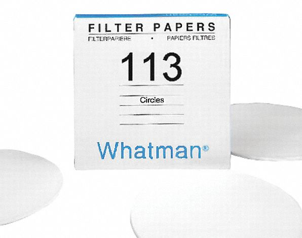 Qualitative Filter Paper,  Cellulose,  Grade CPF113,  15.0 cm Diameter,  30.0um Pore Size,  PK 100