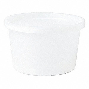 Wide Mouth Round Histology Container, Sampling, Plastic, White, 100 PK