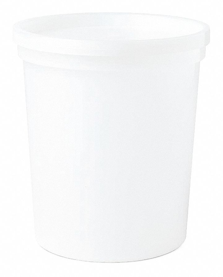 Wide Mouth Round Histology Container, Sampling, Plastic, Clear, 100 PK