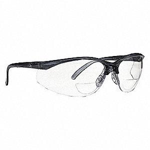 SAFETY GLASSES GR FRAM/CLR LENS 20