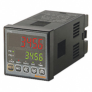 Digital Counter/Timer, Number of Digits:  6, 24VAC/24 to 48VDC Input Voltage