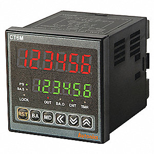Digital Counter/Timer, Number of Digits:  6, 100 to 240VAC Input Voltage