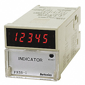 Digital Counter/Timer, Number of Digits:  5, 100 to 240VAC Input Voltage