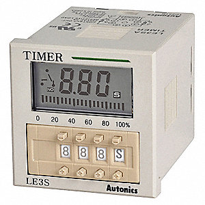 Multi-Function Timing Relay, 24 to 240VAC/24 to 240VDC, 5A @ 250V, 8 Pins, SPDT