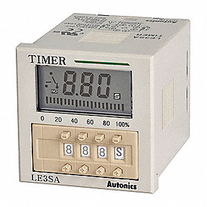 Multi-Function Timing Relay, 24 to 240VAC/24 to 240VDC, 3A @ 250V, 8 Pins, DPDT, SPDT