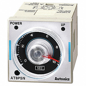 Time Delay Relay, 200 to 240VAC Coil Volts, 3A Contact Amp Rating (Resistive), Contact Form: DPDT