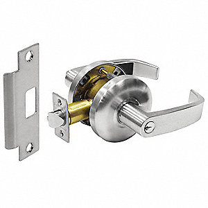 Door Lever Lockset,Right Angle,Storeroom