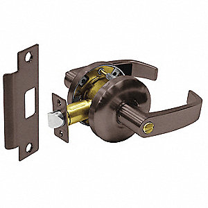 Door Lever Lockset,Right Angle,Privacy