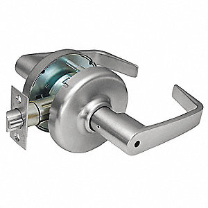 LEVER LOCKSET,CYLINDRICAL,PRIVACY