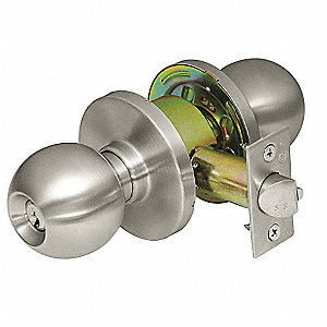 Heavy Duty Entrance CK4400-Series Knob Lockset, Satin Stainless Steel Finish