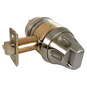 Heavy Duty Entrance 1SS55-Series Antiligature Lockset, Satin Stainless Steel Finish