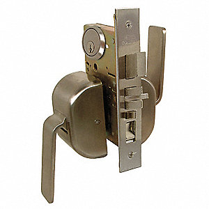 Mortise Lockset,Paddleset,Grd. 1