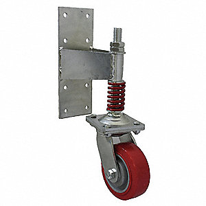 "8"" Light-Medium Duty Gate Caster, 700 lb. Load Rating"