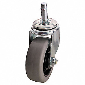 Swivel Stem Caster,PolyU,3-1/2 in,250 lb