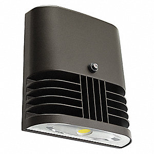 "8"" x 3"" x 7-1/2"" 22 Watt LED Wall Pack, Dark Bronze"