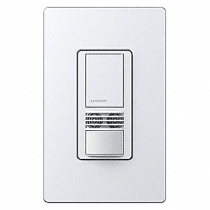 Wall Switch Box Hard Wired Occupancy Sensor, 900 sq. ft. Passive Infrared, Ultrasonic, White
