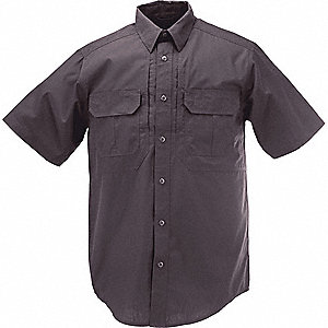 Taclite Pro Short Slv Shirt, XL, Charcoal