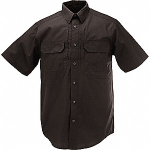 Taclite Pro Short Sleeve Shirt,5XL,Black