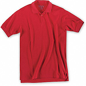 Short Sleeve Utility Polo,3XL,Range Red