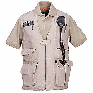 Tactical Vest, 3XL, Khaki, 54 in. to 56 in.