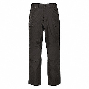 "Twill TDU Pants. Size: 4XL, Fits Waist Size: 51-1/2"" to 55"", Inseam: L, Black"