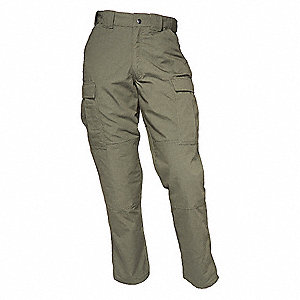 "Twill TDU Pants. Size: L, Fits Waist Size: 35-1/2"" to 39"", Inseam: S, TDU Green"
