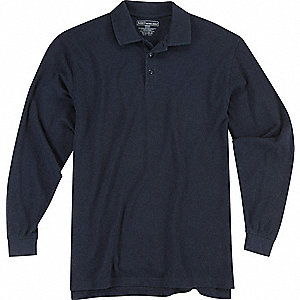 Utility Long Sleeve Polo, 3XL, Dark Navy