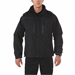 "Valiant Duty Jacket, 4XL Fits Chest Size 60"", Black Color"