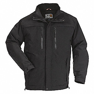 "Bristol Parka Jacket, M Fits Chest Size 40"", Black Color"