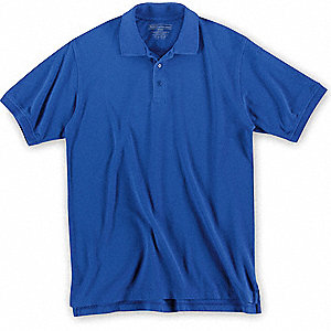 Short Sleeve Utility Polo,M,Academy Blue