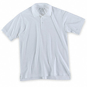 Short Sleeve Utility Polo,L,White