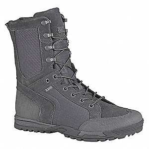 Military/Tactical Recon Boots, Toe Type: Plain, Gray/Orange, Size: 12