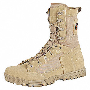 "8""H Men's Skyweight Boots, Plain Toe Type, Rough Out Suede, 1200D Nylon Upper Material, Coyote, Size"