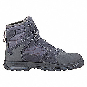 Tactical Boots,8-1/2R,Dark Gray,Lace,PR