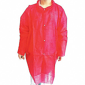 Red Polypropylene Disposable Lab Coat, Size: 4XL