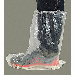 "Boot Covers, Slip Resistant: No, Waterproof: Yes, 19-3/4"" Height, Size: 15-1/2"", 50 PK"