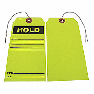 "Paper Hold Tag, 5-3/4"" Height, 2-7/8"" Width, 25 PK"