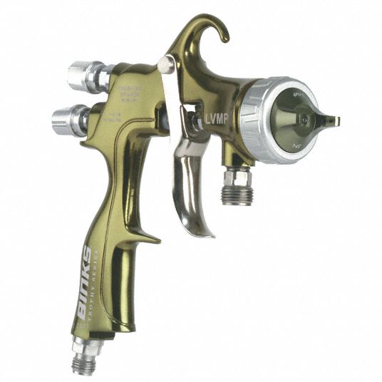 Binks 15 5 Cfm 10 Psi Hvlp Spray Gun For Use With Industrial Coatings 32kl77 2465 14hv 32s0 Grainger