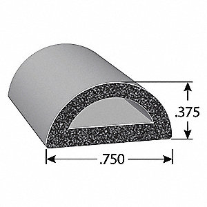 RUBBER SEAL D-SECTION 200FT