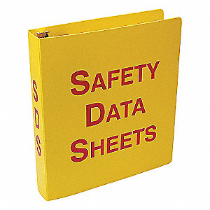 SDS BINDER ENGLISH YELLOW 2 1/2IN