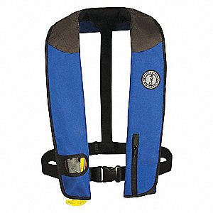 PFD INFLATABLE DELUXE BL/BK/GY