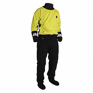 SUIT DRY WATER RESCUE YW/BK XXL
