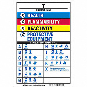 NFPA Sign,10in. H x 7in. W,Polyester