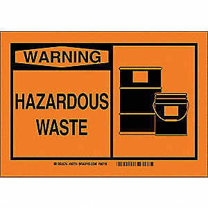 Warning Sign,10inHx7inW,Fiberglass
