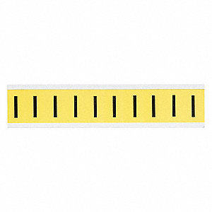 "Letter Label, I, Black/Yellow, 1"" Character Height, 1 EA"