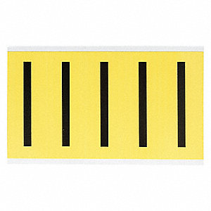 "Letter Label, U, Black/Yellow, 3-7/8"" Character Height, 1 EA"