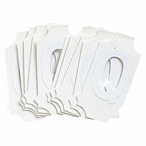 "Letter Label, Q, White, 1"" Character Height, 10 PK"