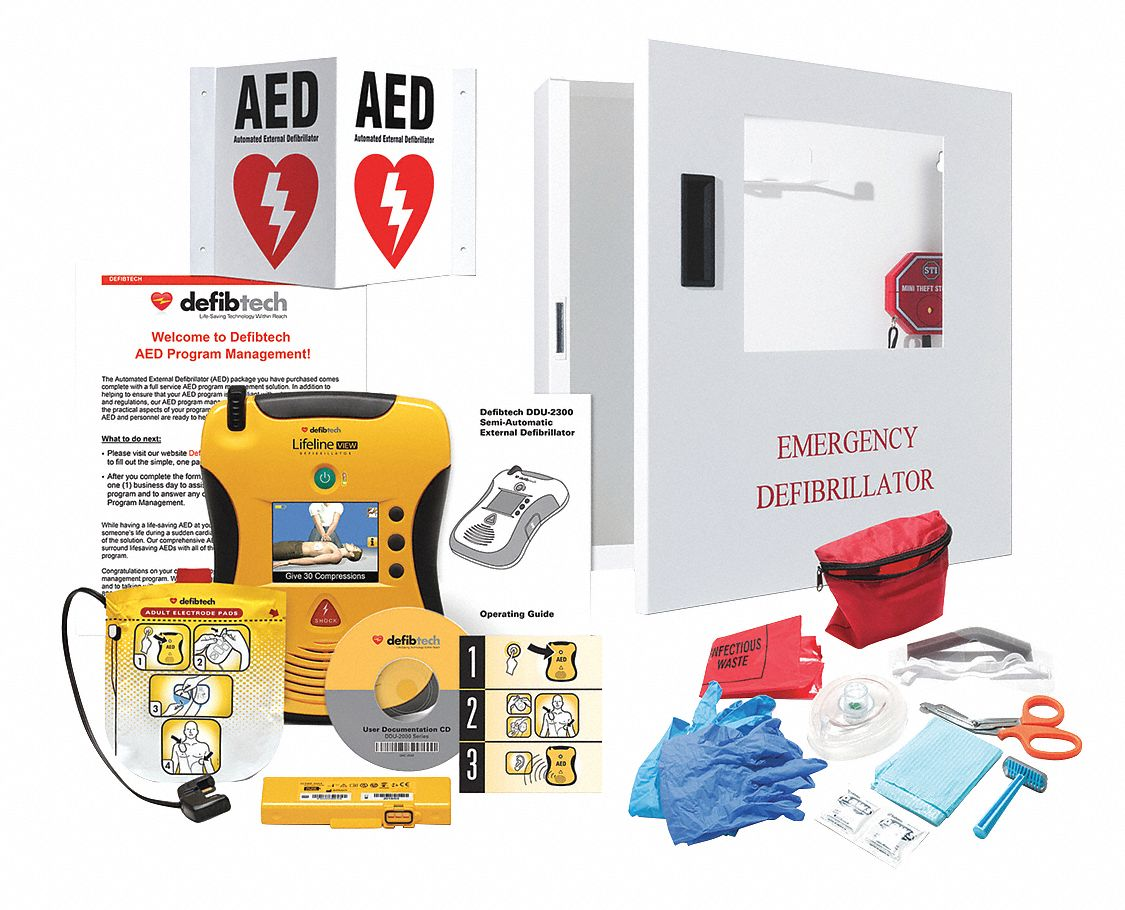 Semi-Automatic Lifeline VIEW AED Starter Kit with 1 yr. Mgmt. Program, AHA Compliant